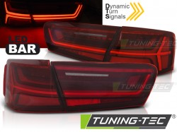 AUDI A6 C7 11-14 LIMOUSINE  RED WHITE LED BAR SEQ